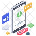 Mobile Voice Message Voice Recorder Voice Note Icon