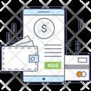 Mobile Wallet Online Money Online Cash Icon