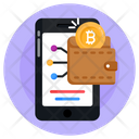 Bitcoin Wallet Digital Wallet Blockchain Purse Icon