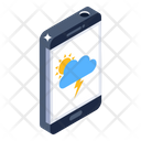 Mobile Weather App Weather Forecast Mobile Weather Icon