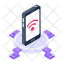 Mobile Wifi Connected Mobile Smartphone Wifi Icon