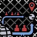 Mobility Migration Escape Icon