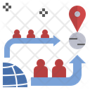 Mobility Migration Escape Icon