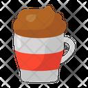 Mocha Cappuccino Cold Drink Icon