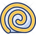 Mocha Roll Baked Slice Icon