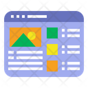Mockup Website Wireframe Icon