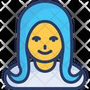 Blonde Girl Female Feminine Icon
