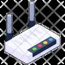 Internet Service Modem Network Hub Icon