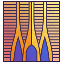 Modern Curve Building Icon