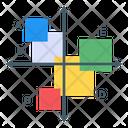 Boxes Chart Modern Infographic Data Representation Icon