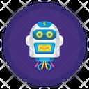 Modern Robot Head Icon
