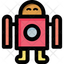 Modern Toy robot Icon