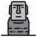 Moei Chile Easter Island Icon