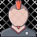 Mohawk Skull Beard Icon