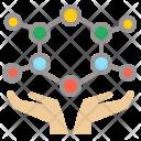 Molecular Cell Hand Icon