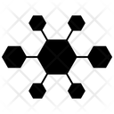 Networking Marketing Molecular Connection Icon