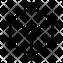 Molecular Cube Molecule Symbol Spreading Symbol Icon