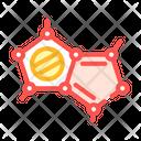 Molecular Structure Color Icon
