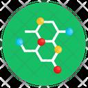 Molecular Structure Chemical Formula Organic Molecule Icon