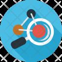 Molecule Compound Magnifier Icon