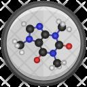 Caffeine Molecule Model Icon