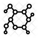 Structure Molecule Medical Icon