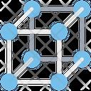 Cubes Molecule Box Icon