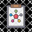 Molecule Cell Clipboard Icon