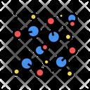 Chemical Molecule Color Icon