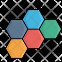 Molecule Structure Atoms Hexagons Icon
