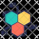 Molecule Structure Hexagons Molecular Structure Icon