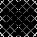 Chemical Formula Molecules Molecular Network Icon