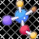 Molecules Molecular Network Cell Bonding Icon