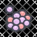 Foam Molecules Reaction Chemical Foam Icon