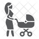 Mom Baby Carriage Icon