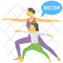 Mom and Daughter Icon