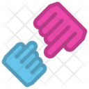 Mom And Son Hand Icon