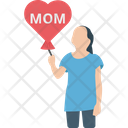 Mom Loving Balloon Celebration Icon