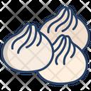 Momos Dumpling Marshmallow Icon