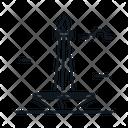 Line X Monas Icon