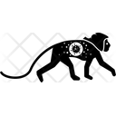 Moneky Virus Animal Ape Icon