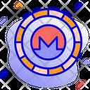 Monero Alternative Currency Cryptocurrency Icon