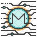 Monero Cryptocurrency Icon