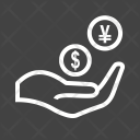 Monetary Help Donation Icon