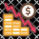 Monetary Decline Bankruptcy Icon