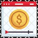 Monetization Monetize Video Ad Icon