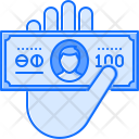 Hand Banknote Payment Icon