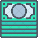 Money Icon in Colored Outline Style