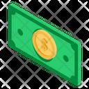 Money Icon in Isometric Style