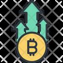 Bitcoin Money Arrow Icon